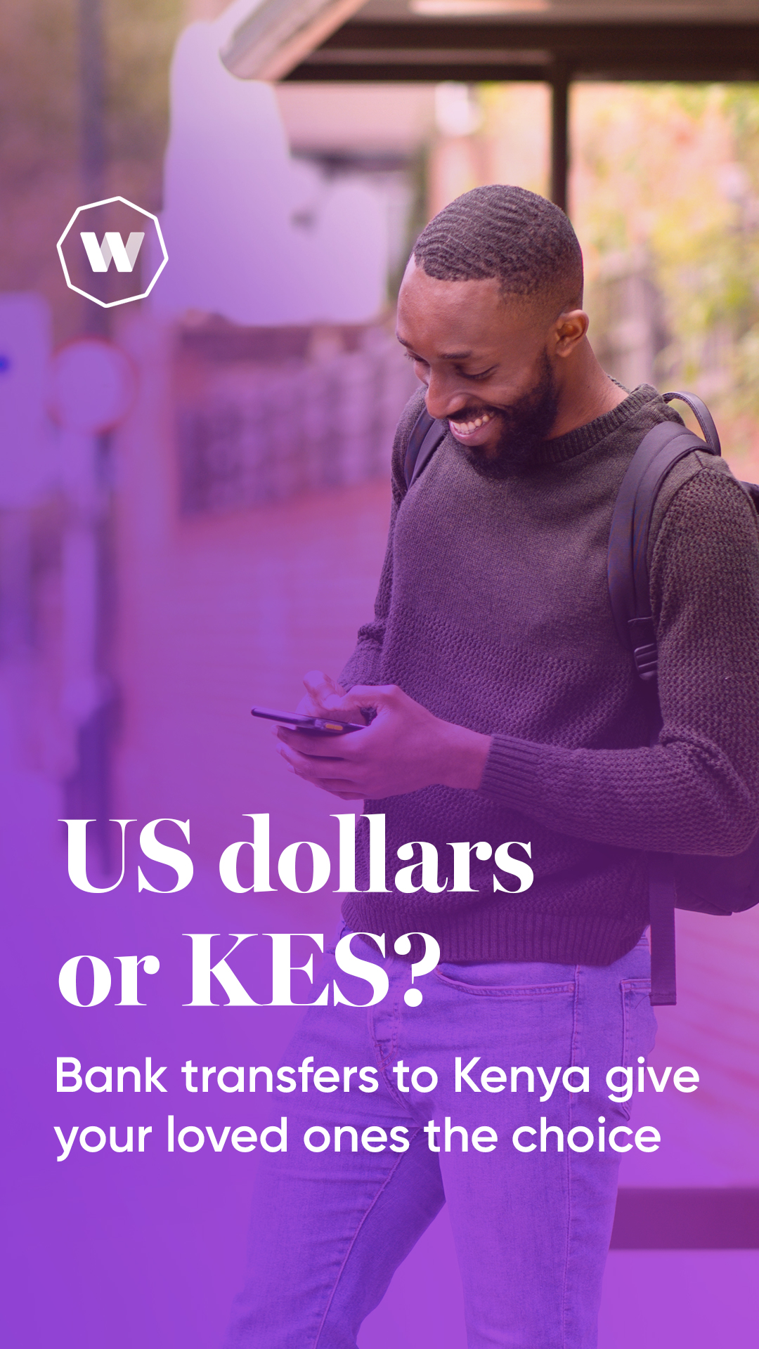 Choice Bora na Worldremit. Send a bank transfer which can be received in USD or KES